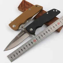 New Oem tactical folding knife 440 blade G10 handle camping hunting survival rescue knife utility hand tools(China)