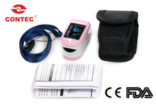 Free Shipping New Style CMS50D Home Use White Fingertip Pulse Oximeter With Color OLED Display