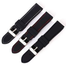New Fashion Trendy Army Military Silicone resin Strap Sports Canvas Wrist Watch Band 18-24mm