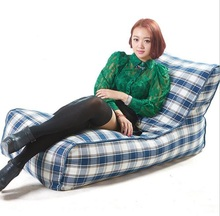 Cover only No Filler- 120CM X 68CM X 63CM back support loung bench bean bag chair, lazy sofa beds(China)