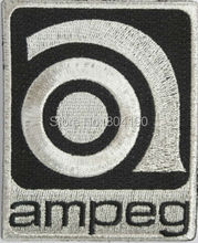 "3.5"" Vintage Style Ampeg Logo Music Band Iron On Patch Heavy Metal Tshirt TRANSFER MOTIF APPLIQUE Rock Punk Badge"