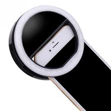 Promotion Universal Selfie LED Ring Flash Fill Light Clip Camera For Phone For iPhone For SAMSUNG Android Smart Phone