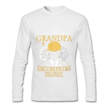 Luxury Brand Mens T Shirt Grandpa with an Engineering Degree Tees Top Slim Fit Long Sleeve Mens Tee Shirts(China)