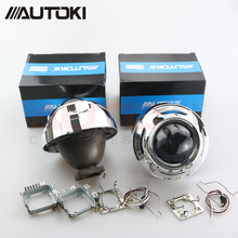 "Autoki 3.0"" Koito Q5 Bi-xenon Projector Lens +Apollo 2.0 Full Circle Shrouds Use D1S D2H D2S D3S D4S HID Bulbs For Car Retrofit(China)"