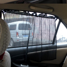 Universal type automobile curtain Shading curtain for vehicle with Tape sucker 50*75 cm   # LY0177