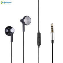 HANGRUI Dynamic Flat Head Plug Earphones DIY Super Bass HIFI fone de ouvido portable stereo headset For iphone xiaomi Smartphone