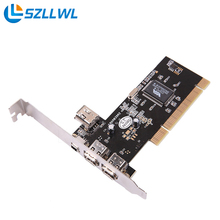 3 Ports Firewire 1394 4/6 Pin PCI to 1394 DV Card Controller Video Capture Card Adapter