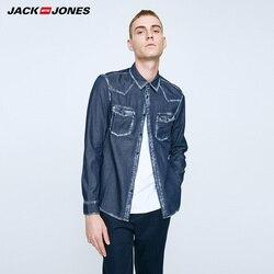 JackJones хлопка с длинным рукавом джинсовая рубашка O-216305507