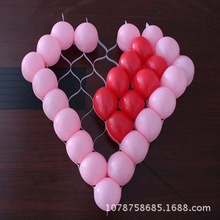 1pc White Plastic Net inflatable games Balloon Holder Cell Net Model Frame Heart Shape Balloon Holder Grid For Party Decor