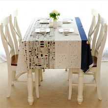 Hight Quality Linen&Cotton Christmas Table Cloth Airplane Pattern Tablecloth For Wedding Party Home Decor