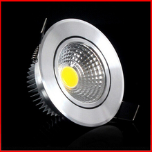 1pcs Super Bright Dimmable Led downlight light COB Ceiling Spot Light 3w 5w 7w 12w ceiling recessed Lights Indoor Lighting(China)