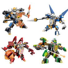 4 Styles Nexus Knights Figures Assembly Building Blocks Clay Macy Lance Aaron Toy Kids Gift Hero Paladin Bricks - Small Corn Store store