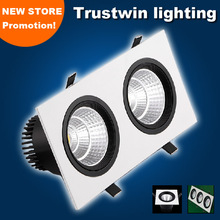 New store promotion 1 2 3 head light 2x10W 2X15W 3X10W 3X15W double triple light COB LED downlight fixture 20W 30W 45W