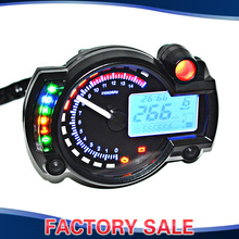 Blue LCD Digital Backlight Motorcycle Speedometer Tachometer Odometer MotorBike Instrument ATV Scooter Dirt bike 9-16V(China)