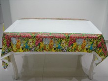 1pcs 180*108cm Jungle King Lion theme PE Table Cloth for kids happy birthday party decoration tablecover