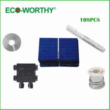 108 PCS 39x26mm Solar Cells Kit+Tab Bus Wire & Flux Pen J-box for DIY 15W Panel