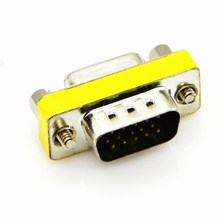 15 pin D-Sub VGA SVGA Mini Gender Changer Adapter VGA Connector M/M F/F M/F HD15(China)