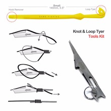 SAMS Fishing Fast Tie Nail Knot Tying Tool and Loop Tyer Hook Tier for Fishing Line Tying Tool Kit Eye Cleaner Disgorger Silver