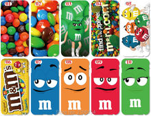 Wholesale lot  M&M Chocolate Plastic Hard Cell Phone Cover For iphone 4 4S 5 5S SE 5C 6 6S Plus For iPod Touch 4 5 6 Mobile Case