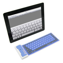 Factory Price Waterproof Wireless Fold Bluetooth Soft Keyboard For Apple For Samsung  Drop Shipping Wholesale