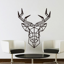 3D Wall Sticker Geometric Deer Head Geometry Animal Series Wall Decals Vinyl Wall Art Custom Home Decor GI885410