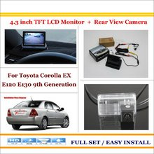 "Car Parking Camera + 4.3"" LCD Monitor NTSC PAL = 2 in 1 Parking Rearview System - For Toyota Corolla EX E120 E130 9th Generation(China)"