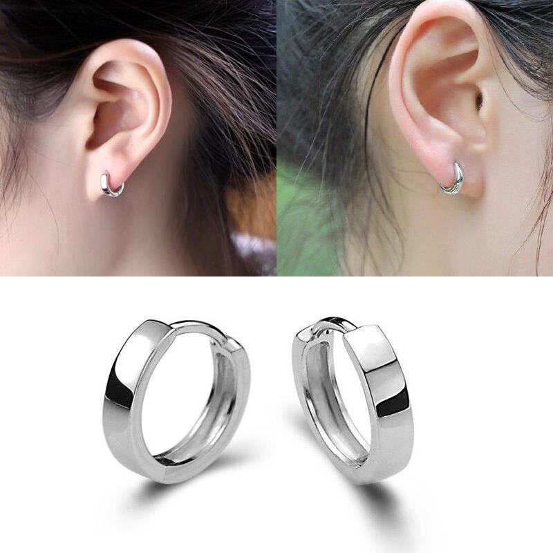 Women/'s Crystal Silver Plated Butterfly Ear Stud Hoop Earrings Jewelry Fashion