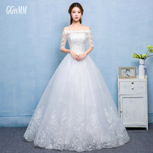 Buy vestido de noiva de renda Ivory Wedding Gowns Sexy Long Wedding Dress Beat-Neck Tulle Lace-Up Ball Gown White Bridal Dresses for $68.60 in AliExpress store