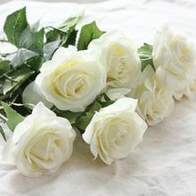 10pcs/lots Floral Latex Real Touch Rose Artificial Flowers Silk Flowers Rose Wedding Bouquet Home Decor Party Flowers bridesmaid