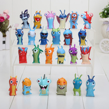 4.5-5cm 24pcs/set Anime Slugterra PVC Action Figures Toys Dolls Kids Toys(China)