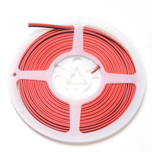 20ft 6m 20AWG 2 Pin Extension Cable PVC Insulated Stranded Wire Electric Cable Copper Wire for 3528 5050 LED Strip Tape Light