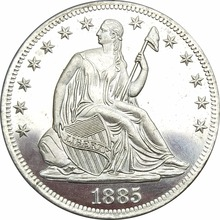 United States 1885 Seated Liberty Half Dollars Type 4 Resumed Motto Above Eagle No Arrows At date Plated Silver Copy Coins(China)