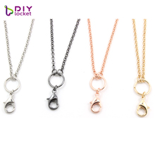 diylocket 10pcs Link Rolo Chain Necklace for floating locket Necklace Pendant 4 colors 2.5mm width 30 inches length LSCH04*10