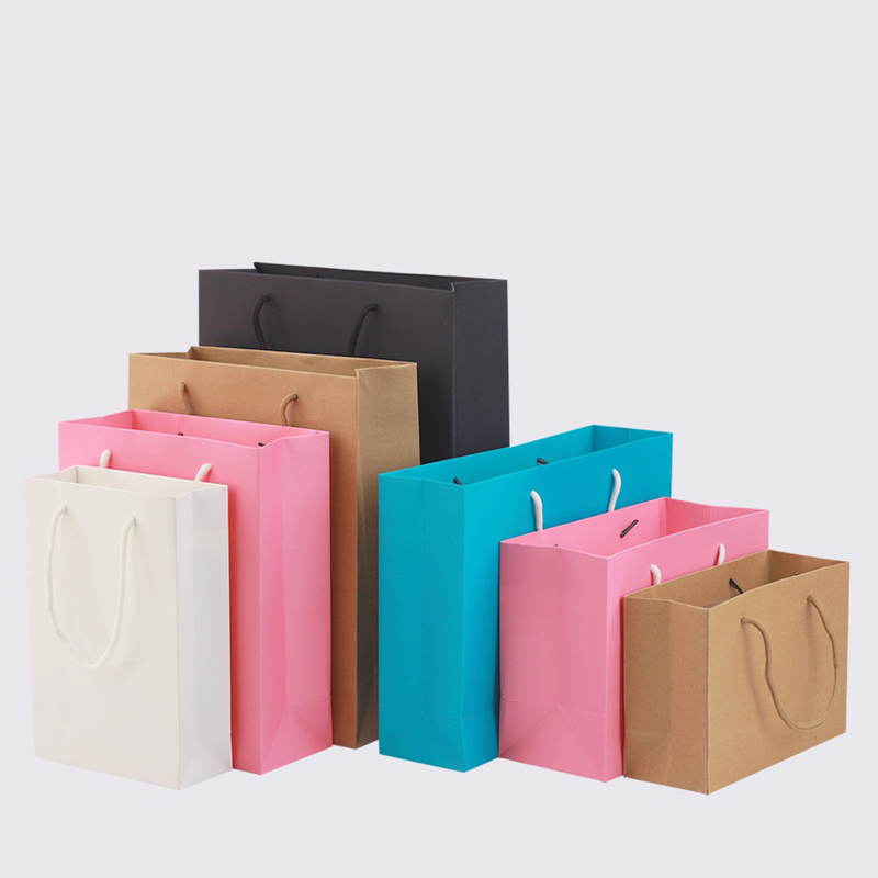 Paper bags with handle [ 100 Piece Lot ] 4