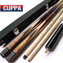 Handmade Cuppa 3/4 Snooker Cues Stick Billiard 9.8mm/11.5mm Tip With Black Snooker Cue Case Set China