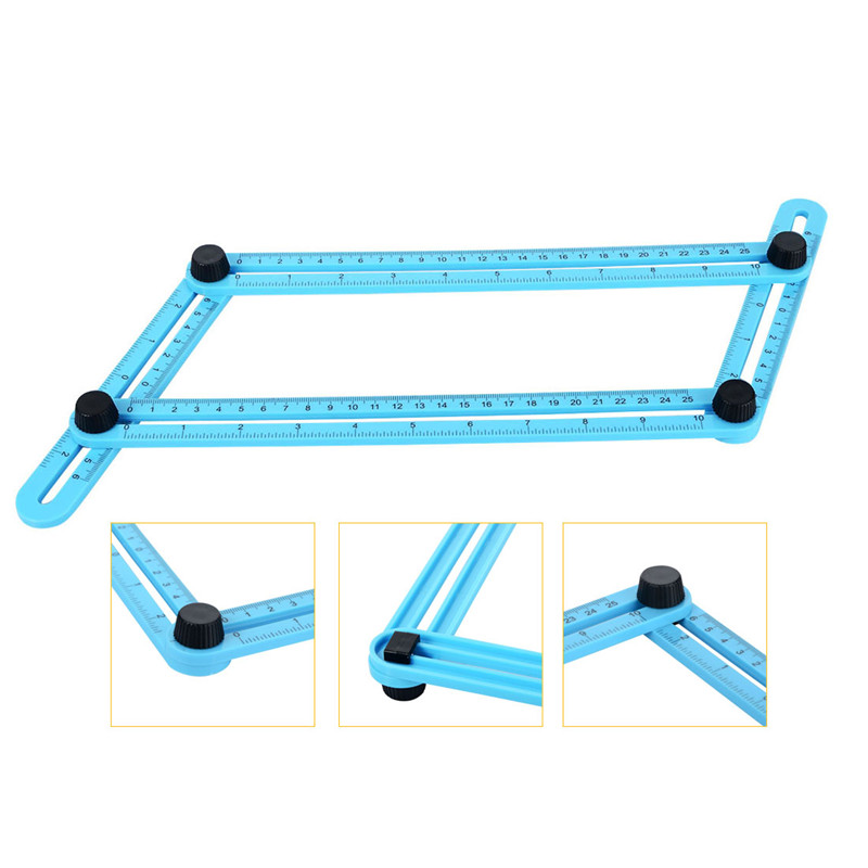 Template Tool Four-sided Measuring Tool Angle Finder Protractor Multi-Angle Ruler Layout Tool Angle Ruler Slide Y