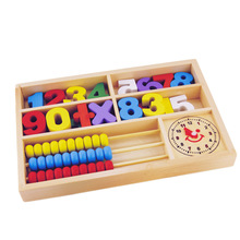 High Quality New Puzzle Wooden Toy Digital Abacus Alarm Clock Educational Toys For ChildrenToys(China)