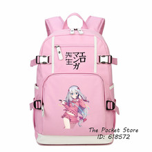 2017 Eromanga Sensei Izumi Sagiri Cosplay Printing Backpack Kawaii Pink Women Backpack School Bags for Girls Canvas Laptop Bags