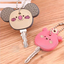 Classical Cute Animal Soft Key Top Head Cover Chains Cap Keyring Phone Strap DIY