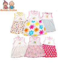 Baby Tops  Dress Baby girls dress,super soft 100% cotton ,lovely cartoon style0--2 years TST0002
