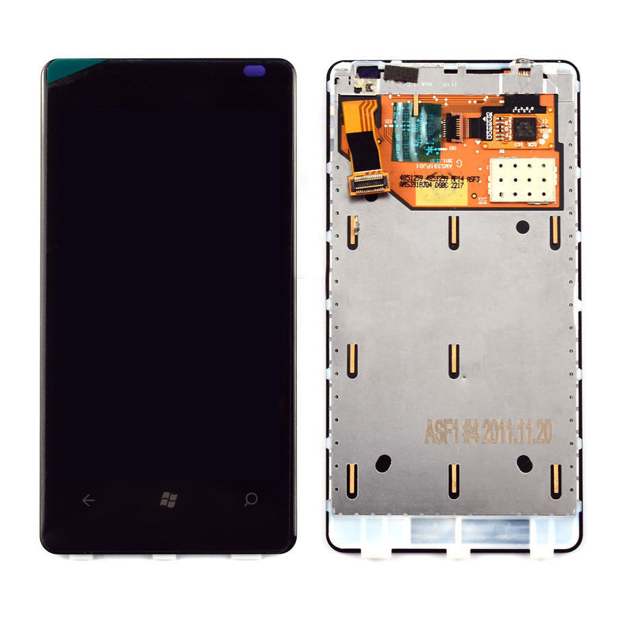 100% Guarantee LCD Display Touch Digitizer Screen Assembly with Frame For Nokia Lumia 800 N800 phone Replacement parts<br><br>Aliexpress