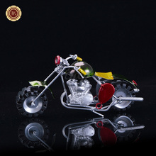 WR Colored Motorcycle Mini Metal Craft Handcraft Motorbike Decor Iron Motorcycle Model Collectible Gift New Year Desk Decor