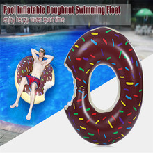 Summer Inflatable Air Mattresses Circle Cute Doughnut Gigantic Swimming Floating With Pump Adult Row Pool Toy For Water Game