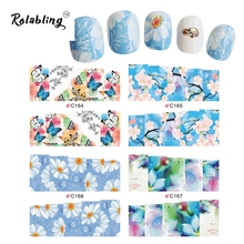 2017 New Arrival Different Color Butterfly And Flowers Series Water Transfer Nail Ssticker Fingernail Decorations Gliter Nails
