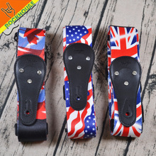 Senior terylene Flag series electric guitar strap bass strap acoustic guitar straps soft tough tensile USA CAN UK  national flag