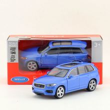 Welly DieCast Metal Model/1:36 Scale/Volvo XC90 SUV Sport Toy Car/Pull Back Educational Collection/Children's gift/Collection(China)