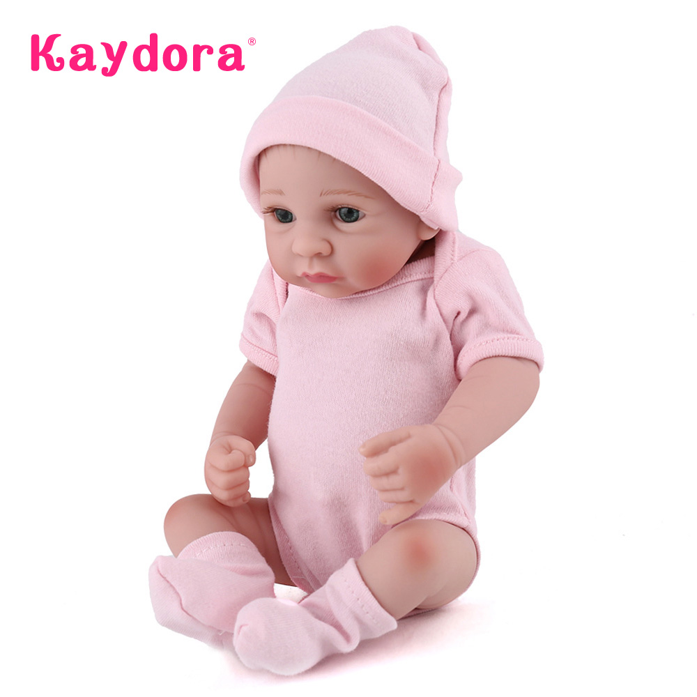 Kaydora 10 Inches Full Vinyl Reborn Doll Mini Cute Girl Dolls Toy For Kids Realistic New Born Baby Gift For Children(China (Mainland))