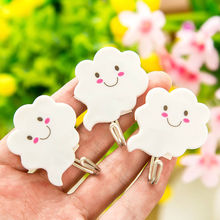 3pcs/Lot Plastic Cute Smiling Cloud Shape Self Adhesive Wall Hooks Hanger for Clothes Bags Hats Key Kitchen Bathroom Accessories