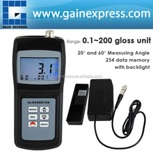Handheld Digital Gloss Meter 20 & 60 Degree Tile Floor Metal Surface 0.1 ~ 200 w/ Memory Specular Reflection Gloss Tester