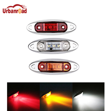 1Pcs Car Truck Side Marker Indicators Lights Lamp 9-30V 3 LED Amber Clearence light Red White for Auto Truck Trailer Lorry Bus